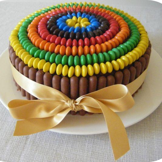 Cake: Chocolate Rainbow Cake