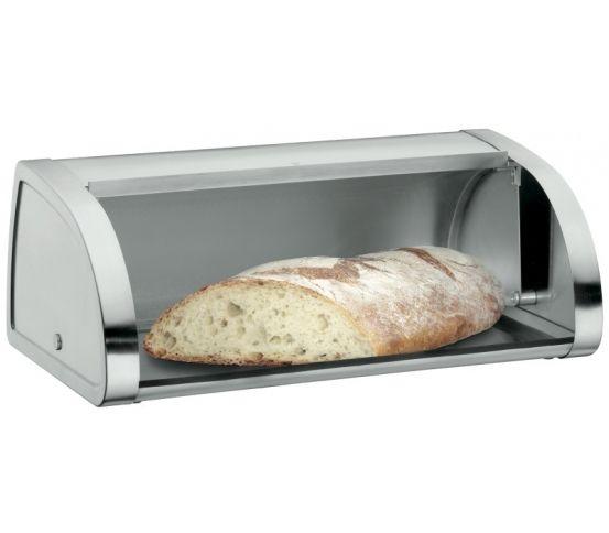 Chlebak Gourmet marki WMF pomoże zachować świeżość chleba, bułek, ciast oraz innych wypieków. Pojemnik jest praktyczny i funkcjonalny. Chlebak posiada szklane, przesuwne drzwiczki.