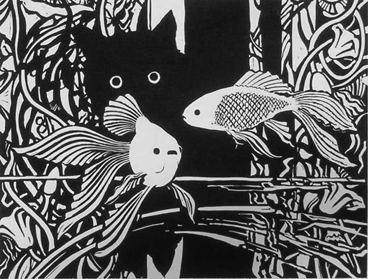 cat lino print - Bing Images Reminds me of my sweet Gabby....