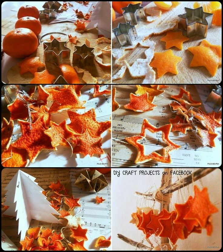 Dried Orange Peel Ornaments (no link, just a picture)