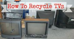 how to recycle old tvs, repurposing upcycling, Today I am sharing how and where do you recycle Old TVs Computers and Appliances Also read about how to recycle hazardous waste and paint in this series