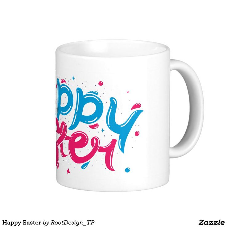 Happy Easter Classic White Coffee Mug