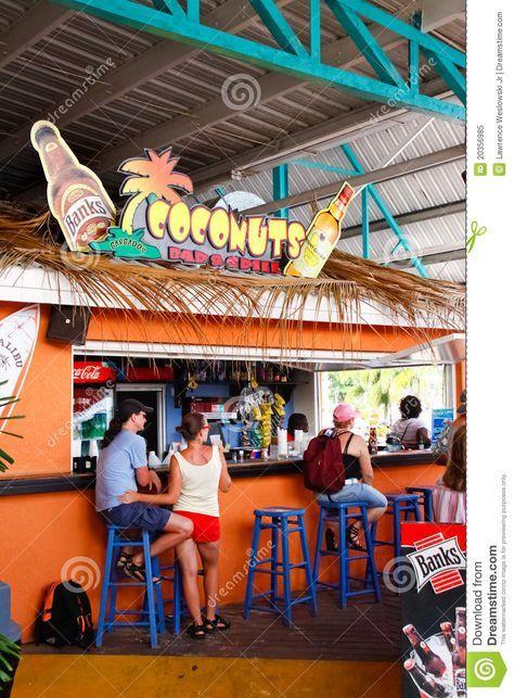 A colorful bar called Coconuts in the Bridgetown Barbados Cruise Ship Terminal.