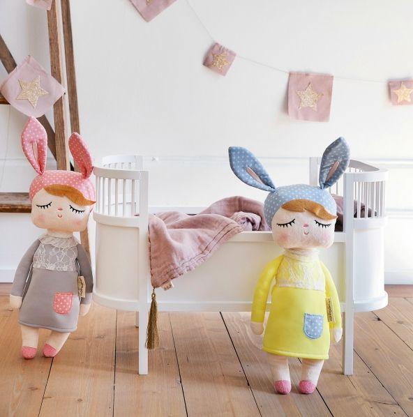 Kanindocka grå/rosa