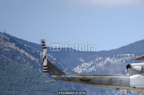 """Agusta helicopter radar antenna base background mountain "" Stock photo and royalty-free images on Fotolia.com - Pic 91348409"
