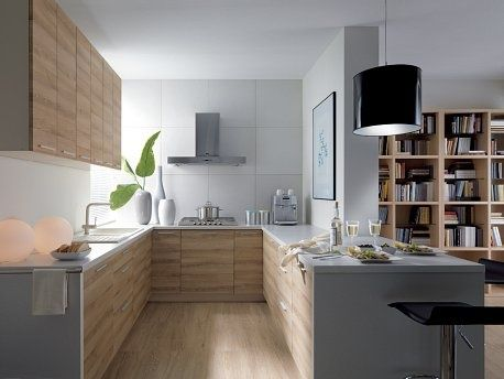 87th Smooth Street Kitchen Cabinets   U Shaped Kitchen  U Shaped Kitchen