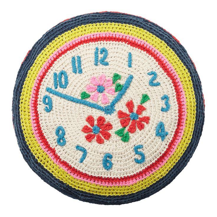 View All | Crochet Clock Cushion | CathKidston