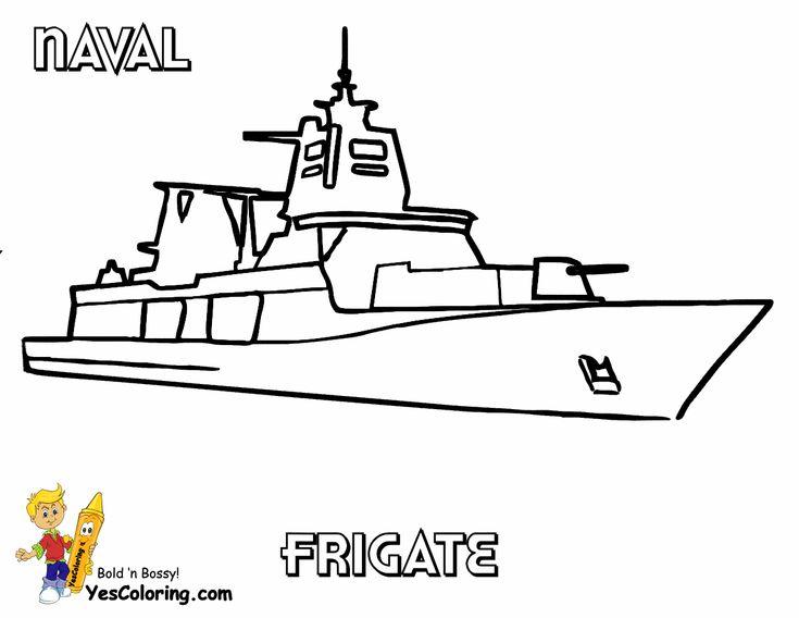 naval frigate navy coloring page at yescoloringslide crayon - Crayon Coloring Sheet