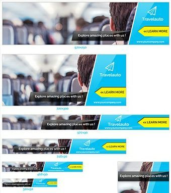 Travel & Vacation Ads Banners