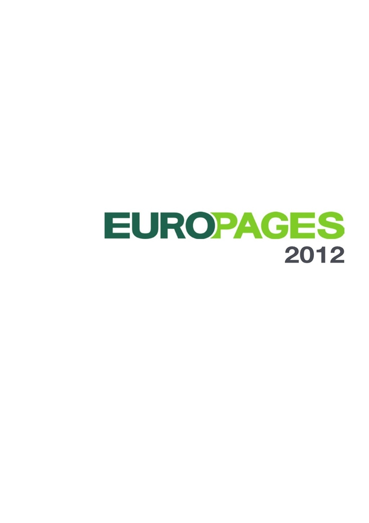 2012-sales-brochure-english by EUROPAGES via Slideshare