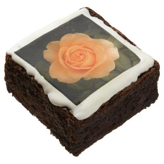Amber Flush Rose Brownies (One Dozen)