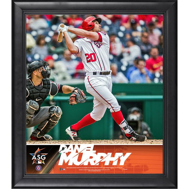 "Daniel Murphy Washington Nationals Fanatics Authentic Framed 15"" x 17"" 2017 MLB All-Star Game Collage"