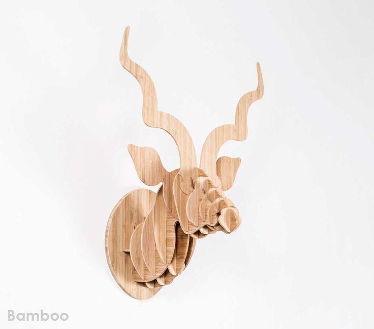 Medium bamboo kudu trophy head