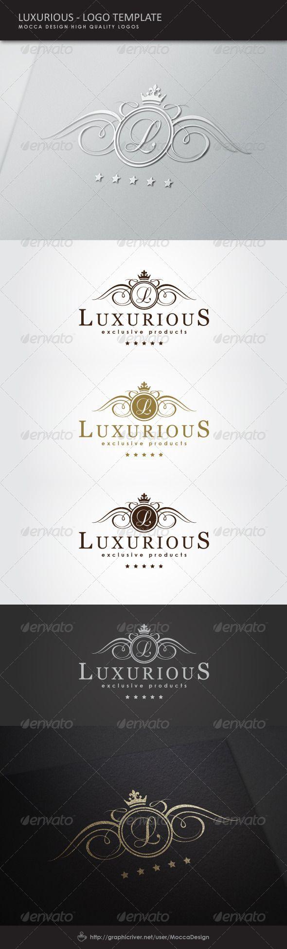 Luxurious Logo Template Vector EPS, AI Illustrator. Download here: https://graphicriver.net/item/luxurious-logo/5170308?ref=ksioks