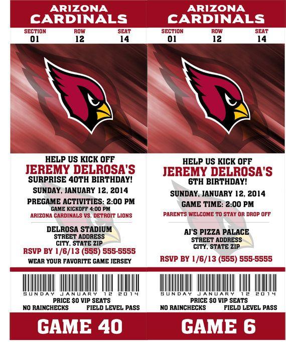 Printable Birthday Party Invitation Card Detroit Lions: 34 Best Arizona Cardinals Printables Images On Pinterest