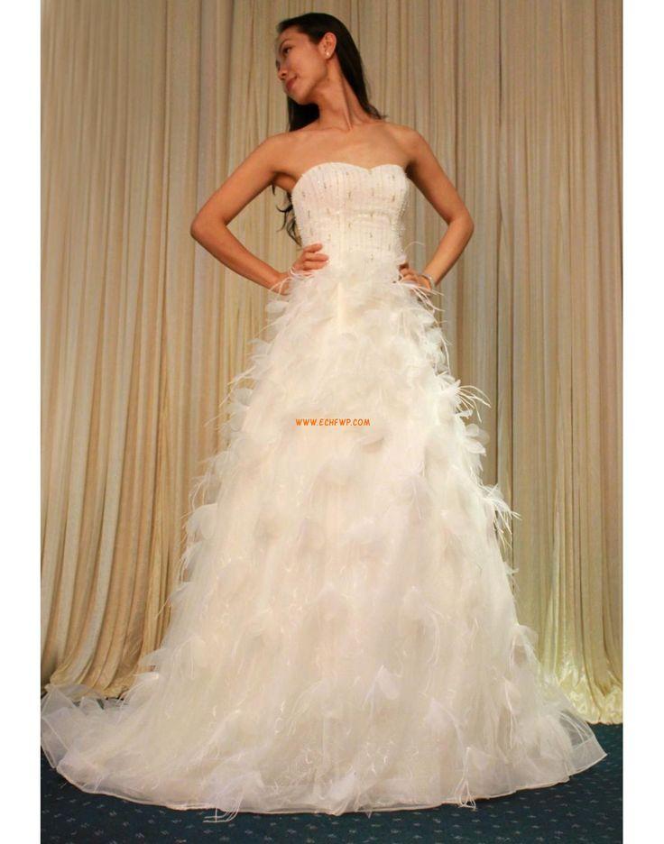 Glanz & Glamour Elegant & Luxuriös Reißverschluss Handarbeitern Maßgeschneiderte Hochzeitskleidung