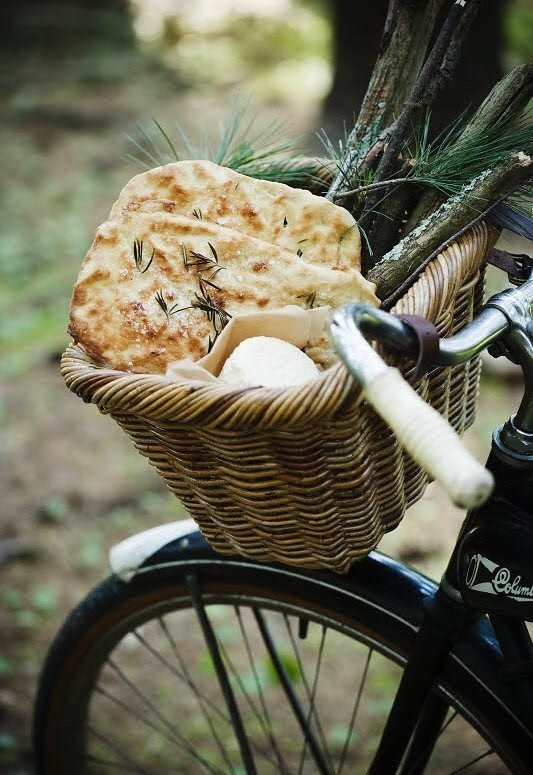 a picnic, a bike, a bottle of wine, and some company! I feel a great need for sunlight and a picnic right now