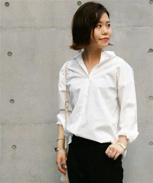 ivory court WOMENS(アイボリーコート ウィメンズ)のNeo 2WAY カシュクールシャツ【洗濯機洗い可】◆(シャツ/ブラウス)|ホワイト