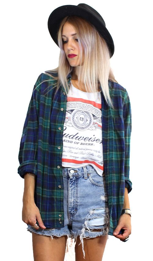 """""""Mountaineer Flannel' vintage early 90s plaid grunge style button up/ jacket. Oversize fit $28"""