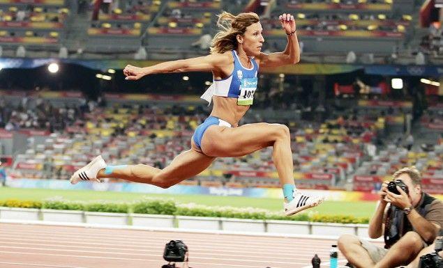 Athens 2004, silver medal Beijing 2008, bronze medal in triple jumb. Chrysopigi Deventzi