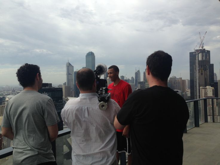 A look behind the scenes of our work with US Sports website #BleacherReport, covering Australian #basketball young-gun #DanteExum. #Filming for a week in #Melbourne - this was the #penthouse portion in South Bank