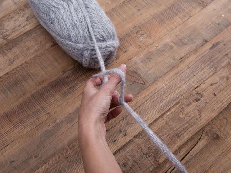 DIY tutorial: Vingerhaken - een kussen met kleurwisseling via DaWanda.com