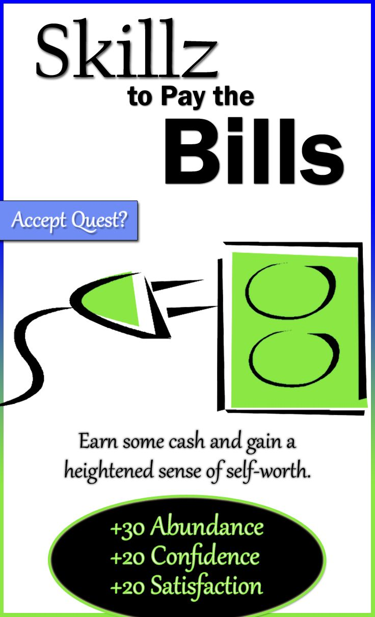 Here's a cool quest that will not only make you money, but it will boost your confidence a lot. Enjoy a heightened sense of self-worth for trading your skills for cash. You can do this!  Click here for the quest briefing: http://align-mentality.com/quest-skillz-to-pay-the-bills/  #abundance #confidence #satisfaction #quest #mission