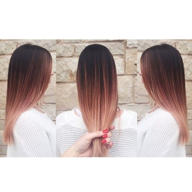 Rose gold brown and blonde ombre balayage(Rose Gold Hair)