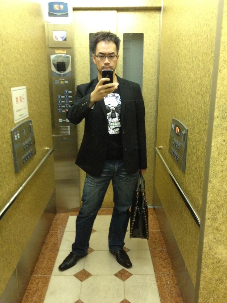 2012-10-18 Thu Skull Tee & Jacket.
