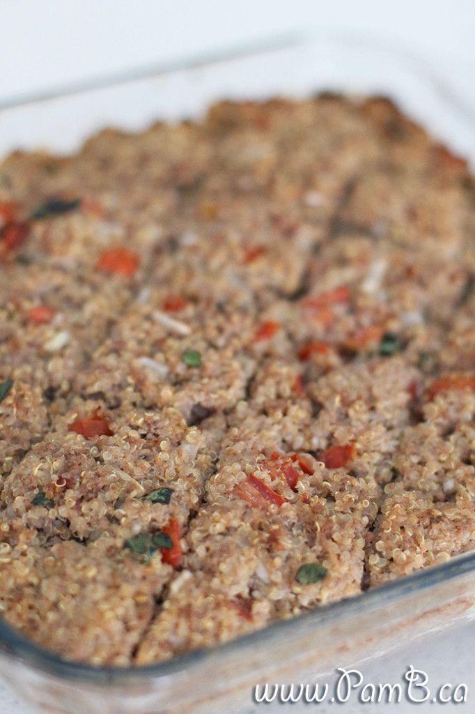 Quibe de Quinoa Recheado com Ricotta (Sem glúten)