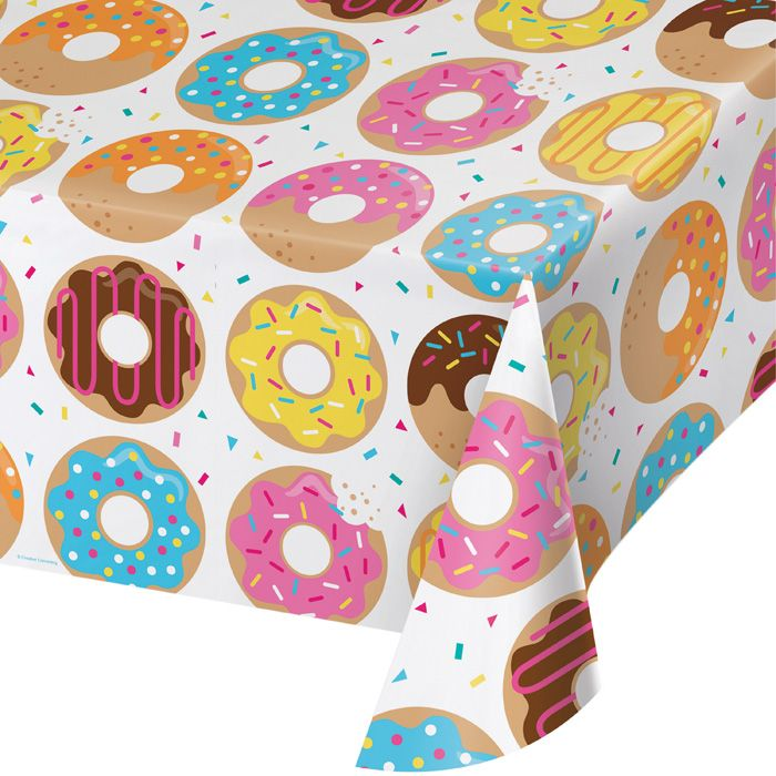 Bulk Donut Time Plastic Tablecloths 6 ct - Napkins.com