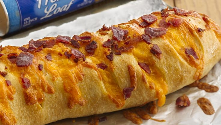 You can't go wrong when you serve this bread stuffed with Cheddar cheese and bacon!