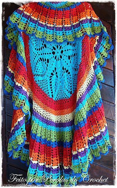 Maxi Colete em crochet com PAP.     Esse mês o Pérolas do Crochet comemora 5…
