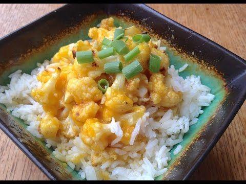 Orange Cauliflower | high-carb, low-fat, vegan