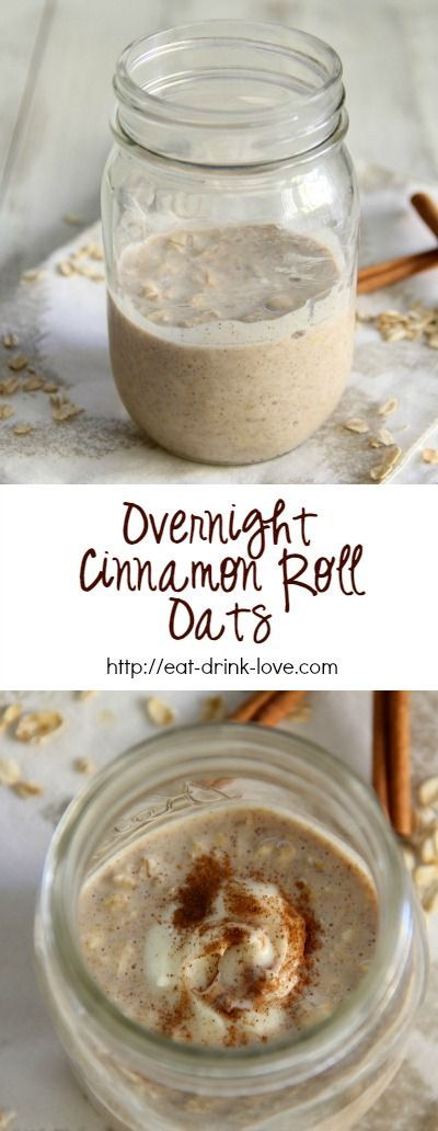 Overnight Cinnamon Roll Oats