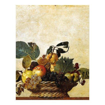 Caravaggio - Basket of Fruit - Classic Artwork Letterhead - wedding cyo special idea weddings