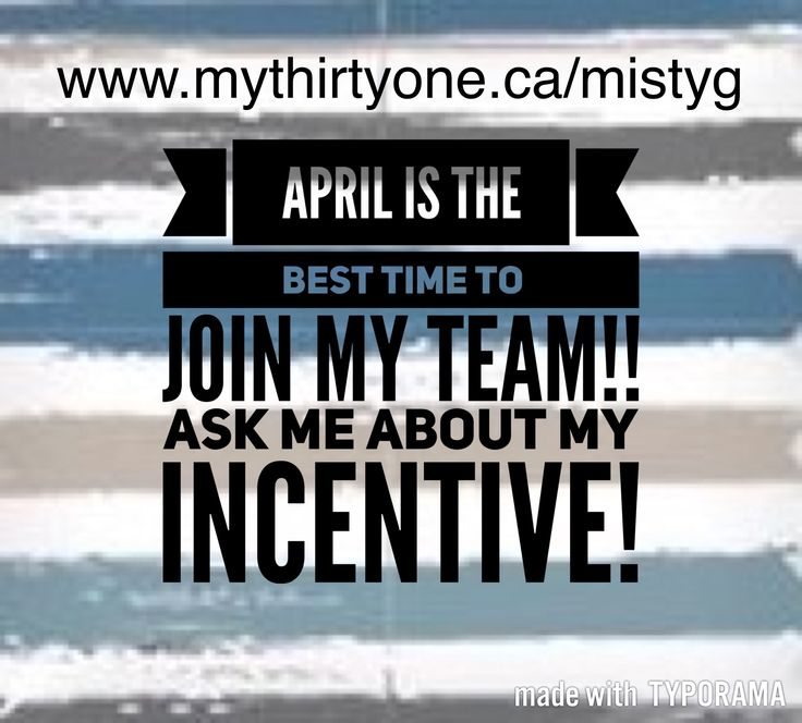 Join Thirty One in April and you have a chance to earn Disney money!! Message me for more information and my personal incentive! mistyg__36@hotmail.com  Join my team at www.mythirtyone.ca/mistyg I can show you exactly how to earn a minimum $840 in free product!