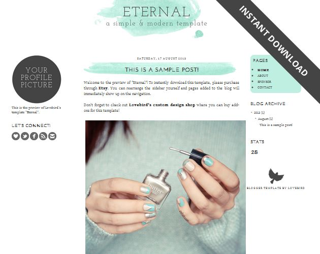Free Blogger template download Eternal!   SCRIBBLES OF VALÉRIE - free profile templates