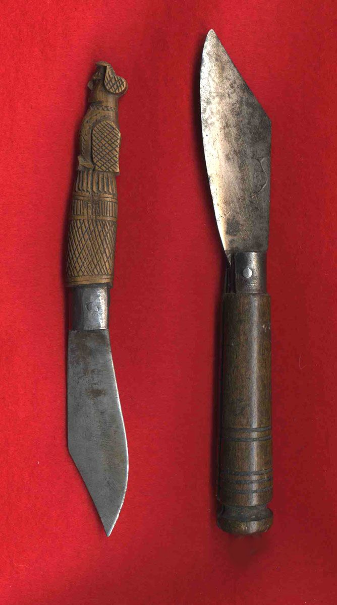 French & Indian War era Penny knives.     Many good images at this site.   http://ehcnc.org/decorative-arts/historic-trades/blades-in-va-...