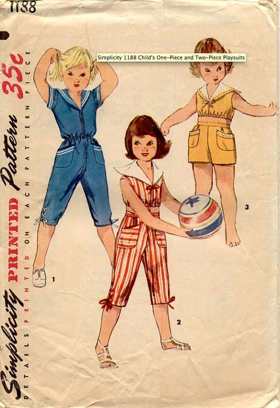 Vintage 1950s Girls' And Toddlers' Sailor by daisyepochvintage, $10.00