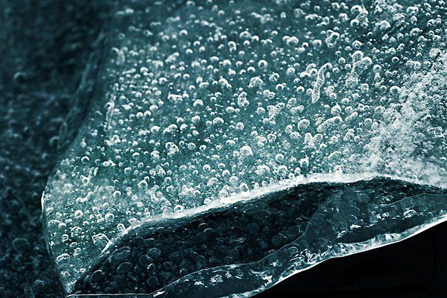 Fotografias abstratas de gelo por Heidi Romano