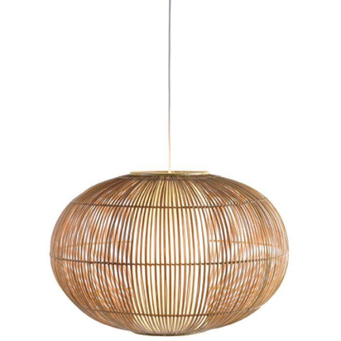 Suspension incandescente maki en rotin de chez conforama for Lustre en osier