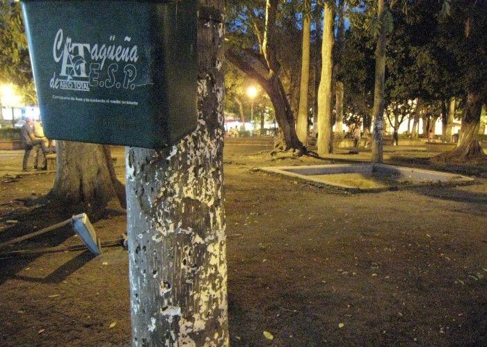 """""""El parque de Bolívar #cartago es un tierrero sin zonas verdes; es el resultado de la mala gestión de la empresa Cartagüeña de Aseo Total"""""""