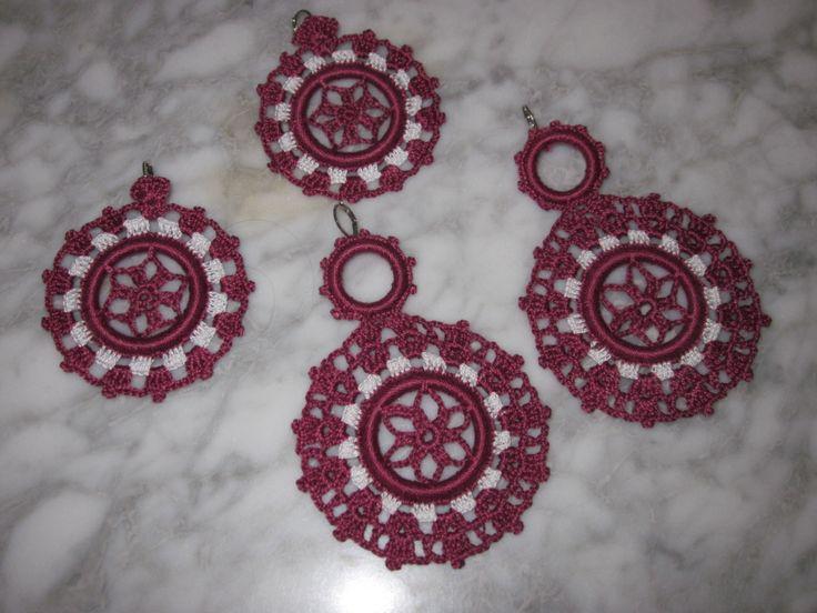 Pendientes de gitana en crochet. Realizados a mano. Disponible en los colores que elijas.