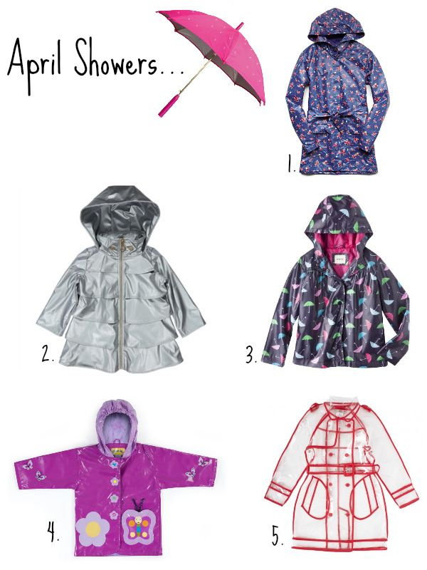 April Showers…Stylish Rainboots and Raincoats For Girls and Boys!