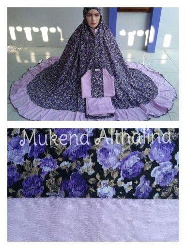 Mukena bahan rayon, karakter bahan lembut dan adem, @ mukena althalina ( fb & tokopedia)