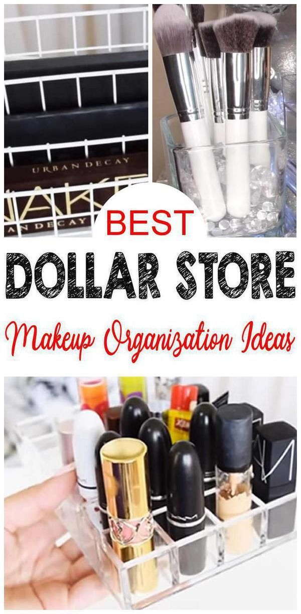 11 Dollar Store Makeup Organisation Hacks, die Bor…