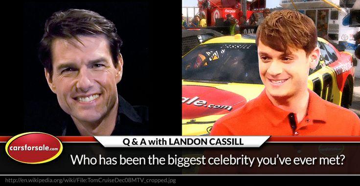 The biggest celebrity Landon Cassill has ever met #NASCAR