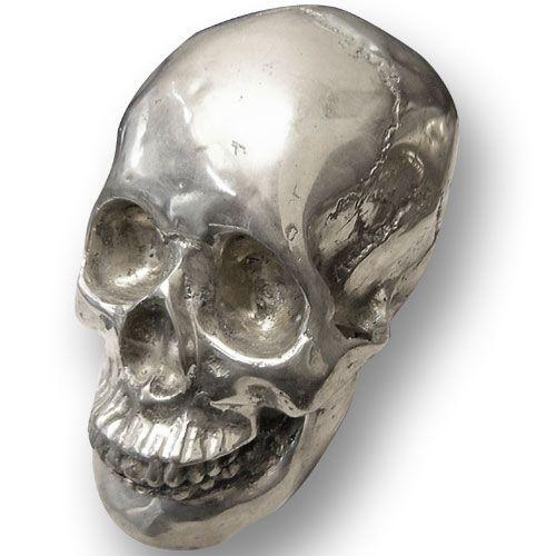 Teschio in Metallo per arredamento tattoo studio , Teschio in metallo per arredamento , Teschio in alluminio da esposizione ,Skull expositor , Metal Skull