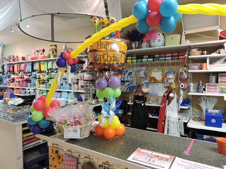 Arch over Balloon Counter always makes a colorful display